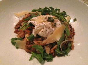 Anson Mills POLENTA wild mushrooms, Parmesan & poached farm egg